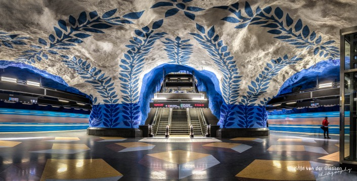 Stockholm Metro Central Station by krijn van der Giessen