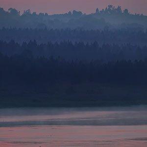 Pastel sunrise over Nile
