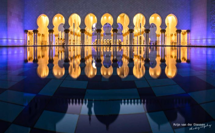 Abu Dhabi Grand Mosque reflections Krijn van der Giessen Photography Copyright-1