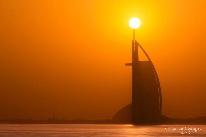 Dubai Burj Al Arab Sunset Silhouette Architecture Krijn van der Giessen Photography Copyright-8