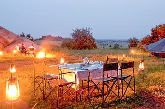 Dinner by the fire Serengeti