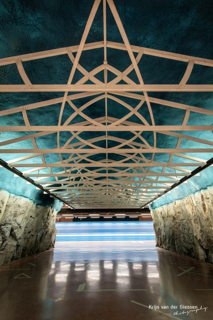 Metro Station Stockholm Sweden by krijn van der Giessen