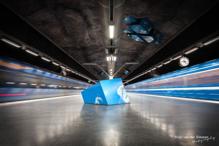 Solna Strand metro station Stockholm by Krijn van der Giessen