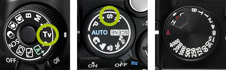 Function Dials Shutter Speed