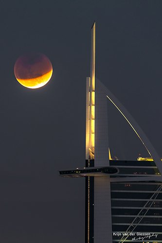 Blood moon Dubai Burj Al Arab
