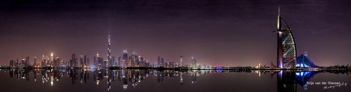 Dubai skyline by night Architecture Krijn van der Giessen Photography Copyright-2