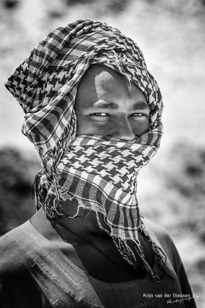 Sudanese boy with headscarf copyright by Krijn van der Giessen Photography
