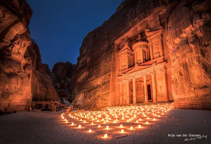 Petra by night treasury copyright by Krijn van der Giessen Photography