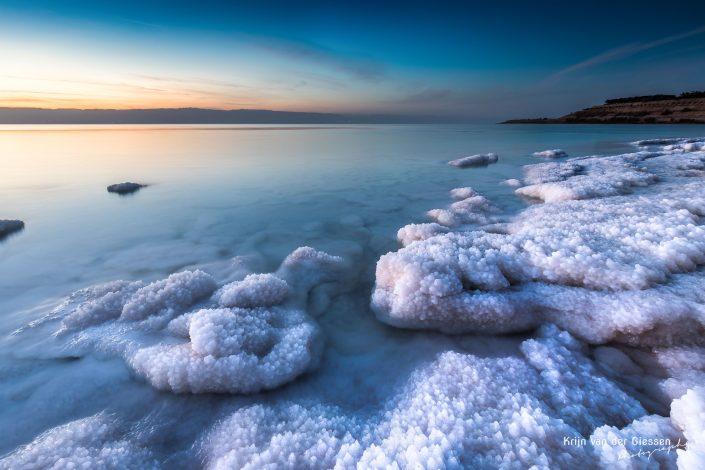 Salt Crystals Dead Sea Sunset Jordan copyright by Krijn van der Giessen Photography