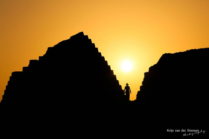 Sudan Meroe Pyramids silhouette sunrise Krijn van der Giessen Photography Copyright-6