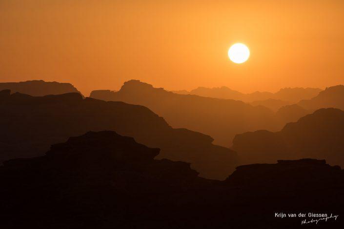 Sunset Jordan Wadi Rum Orange Layers copyright by Krijn van der Giessen Photography