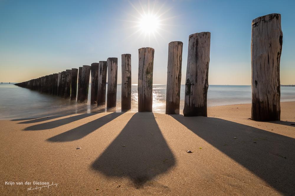 Palenrij op strand fotoweekend Zeeland