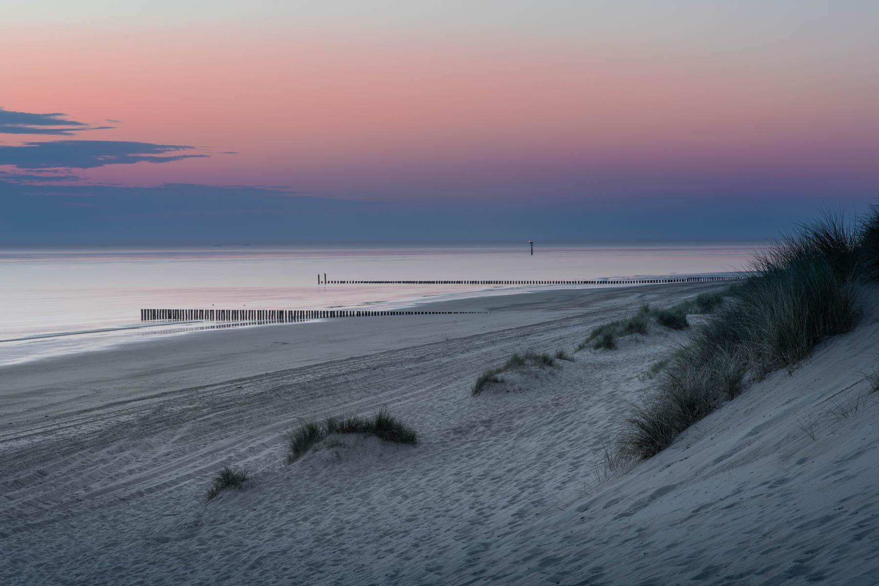 Zonsondergang op het strand van Burgh Haamstede